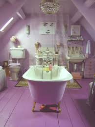 lavender bathroom ideas an attic getaway in the form of a glamorous purple bathroom with a