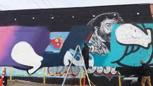 Mural Artist by 10 23 2015 International Mural Artist At Work In Sodo Sodo