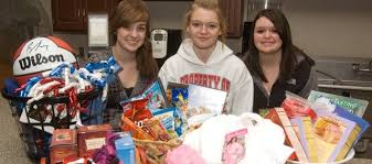 basketball gift basket ths fccla students leading gift basket drive tonganoxiemirror