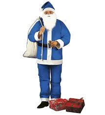 blue santa claus costume fancy dress costumes u0026 party supplies