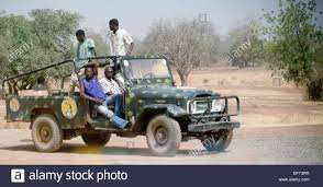 jeep africa security guards driving toyota jeep type vehicle burkina faso