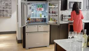 Home Kitchen Aid by Kitchenaid 5 Door Refrigerator Professionally Inspired Design
