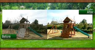 Best Backyard Trampolines Denver Swingset U0026 Trampoline Installation Backyard Dreams