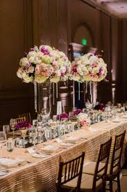 Tall Wedding Reception Centerpieces by Tall Wedding Centerpiece Crystal Flower Arrangements Kings Table