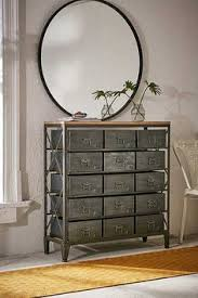 Pottery Barn Locker Dresser Pottery Barn Industrial Metal Bins Rockwell 15 Drawer Bookcase