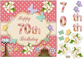happy 70th birthday butterfly topper cup623748 719 craftsuprint