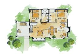 Small Cabin Home Plans Home Plan Homepw76600 681 Square Foot 2 Bedroom 2 Bathroom