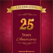 twenty fifth anniversary card vector free