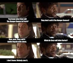 Pulp Fiction Memes - whoa this is heavy pulp fiction comments on the hunger games
