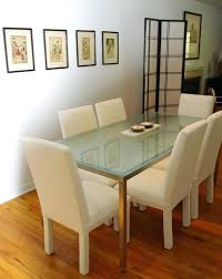 oval glass dining table ikea top room black canada extending and