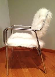 faux fur desk chair fur chair custom made faux fur chair furry desk chair slipcover