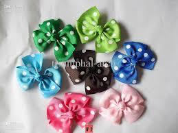 custom hair bows dotted hair bows grosgrain ribbon bows custom made form