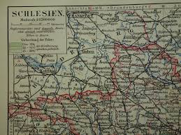 Wiesbaden Germany Map by Old Map Of 1913 Original Vintage Poster Silezia Germany Poland