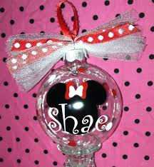 personalized mickey or minnie mouse ornament great by stacyfinch