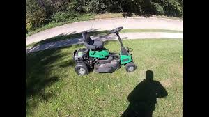 honest and unbiased review of weedeater one riding lawn mower mini