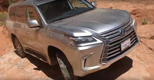 2016 lexus lx truck 2016 lexus lx 570 gets off road scars while doing jeep