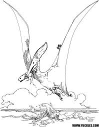underwater dinosaurs coloring pages pterodactyl coloring page with regard to plan 13 chacalavong info