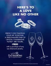 kay jewelers mn monogrammed champagne flutes the leo diamond
