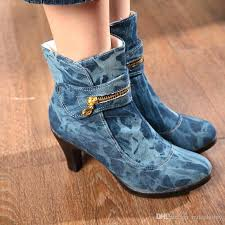 womens boots low heel boots cowboy ankle boots low heel shoes retro