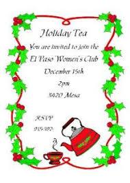 christmas tea party christmas tea party invitations 2017