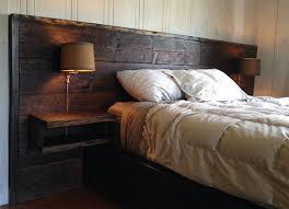 Barn Wood Headboard Top Headboard With Lights 33 Dreamy Reclaimed Wood Headboards