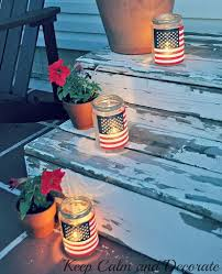 Tin Can Table Decorations Diy Patriotic Crafts And Decorations For 4th Of July Or Memorial Day