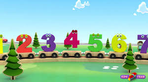 numbers song for children learn to count with 3d numbers train
