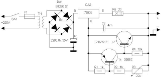 motorcycle battery charger power supply circuits
