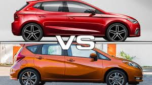 nissan versa note 2018 seat ibiza vs 2017 nissan versa note youtube