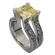 blue rock rings images Platinum radiant cut canary yellow diamond ring rock n gold jpg