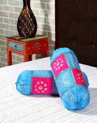 baby bolster cushion cover round indian ethnic sofa pillow case