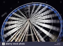 the birmingham eye or ferris wheel in centenary sq stock photo