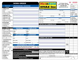 Air Conditioning Invoice Template by Heating Air Invoice Form Sles Wilson Printing Wilson