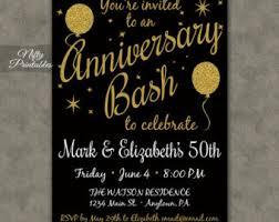 anniversary party invitations 40th anniversary invitations printable black gold 40th