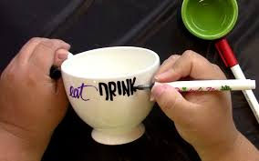 eat drink and be scary mug with paintedbyme ilovetocreate