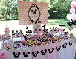 Pink And Black Minnie Mouse Decorations 166 Best Minnie Mouse Party Ideas Images On Pinterest 50th Party