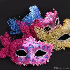 butterfly venice beauty mask half face masquerade party cosplay