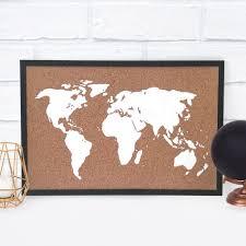 Cork World Map by Diy Cork Board Map U2014 Doodle And Stitch