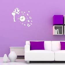 3d wall clock wall mirror sticker clock watch mirror stickers home see larger image