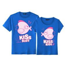 matching fish t shirts for sale set of two
