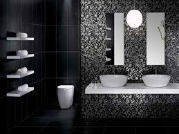 28 black and white bathroom tile designs black and white
