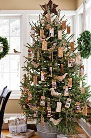 christmas decorating christmas tree with burlap ribbon photos