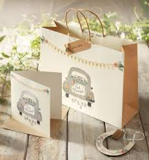 wedding gift next buy car wedding gift bag tag and tissue set from the next uk