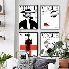 nordic poster modern fashion 4 canvas wall portrait home