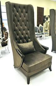 High Back Wing Chairs For Living Room Wing Chair High Back Grey Tweed Trim High Back Wing Chair