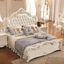 White Princess Bed Frame Leather Luxury Bed 1 8 M Marriage White Bed Special