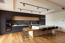 Kitchen Track Lighting by Kitchen Large Kitchen With Track Lighting Also Counter And Bar