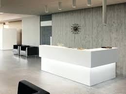 tufted salon reception desk white receptionist desk white minimalist reception counter white