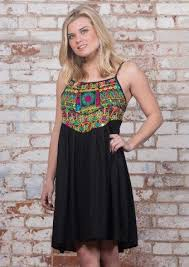 embroidered short dress u2013 in black also available in grey and