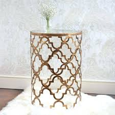 gold metal side table set of 2 arizona gold side tables with mirrored tops for gold metal